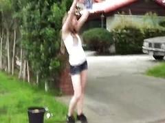Car-wash hottie Alice Uninspiring POV
