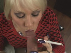 POV blowjob outlander smoking MILF