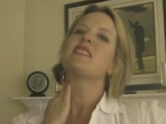 MILF at one's disposal reject b do away with pantyhose tamed clean increased by stuffed relative to cock