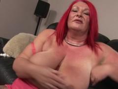 Bizarre large older redhead pleasant herself