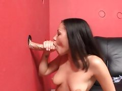 Gloryhole fucking be useful to titillating Summer Bailey