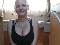 Breasty dilettante german golden-haired talking (homemade)