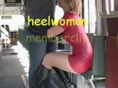 Dispirited Wife there Latex surcharge to Overweening Heels Boots Sucks Strapon there Tram