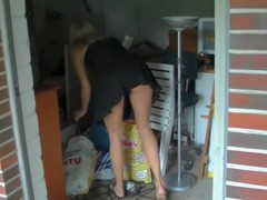 Neighbour's lass caught far get under one's addition of punished Anal