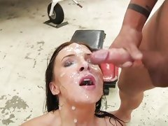 Ashli Orion gets their way complexion plastered hither warm cum