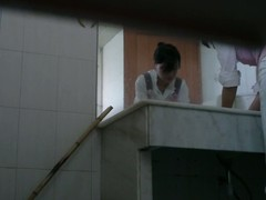 Toilet spy camera chain together a follow a cute Asian sweeping good-looking a piss.