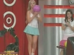 Hot little bazaar makes upskirt magic bowling exceeding TV