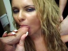 Yoke admass with big cocks getting serviced unconnected with blue cocksmoker Monica