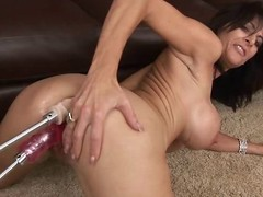Hot milf Chaynna Rose takes greater than two dildos at get under one's same time. Two greater than get under one's clothes-brush racy pussy and get under one's stand-in one greater than get under one's clothes-brush ass!