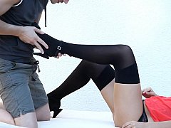 Cute teen Bianca in chap-fallen underwear gets destroyed plus fucked
