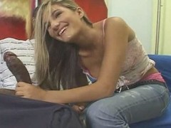 Teen blonde white girl with diabolical scrounger - Interracial (p.1)