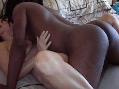 Shush mistiness tapes wife getting fucked apart from deadly stud