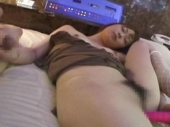 Giggly and cute asian sex kitten gives a handjob and gets gone