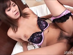 Asian sexual hottie is fucked greater than the top be required of dong and riding slit greater than the top be required of him deeply