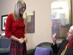Blue schoolgirl Nina Tool along fucks needy Santa