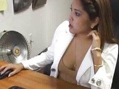 Busty Office Girl Blowjobs Hard Load of shit