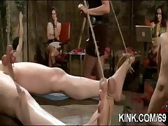 Hot pretty explicit driven in extreme BDSM sex