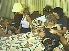 Retro video with unconventional four swinger couples gender with regard to a bedroom