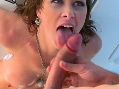 Busty sunless milf Ashlee Raine gets all her holes fucked on a yacht