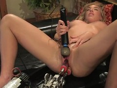 Mason the piping hot blonde gets pleased at the end of one's tether a machine