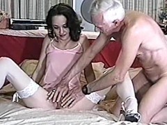 Lovely milf is doing a great job on his penis