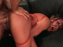 Permanent doggystyle pounding of bald Asian cunt