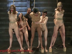 Five bare girls bdsm castigation
