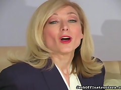 Hot pornstar blonde full-grown in pantyhose
