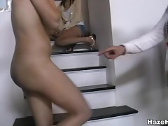 Two adorable lesbian babes with hot the rabble are rendering cunnilingus all over each other