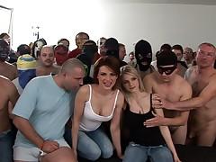 Massacre!! 120 Guys Group-Fucked two czech sluts