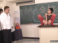 Whorish school Yui Komine seduces students