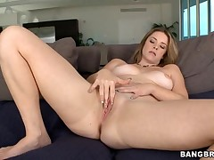 Lovely chick gets a steadfast wang in her love tunnel with much delight