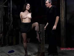 Beauty gets her anal and cunt stuffed with electric toys