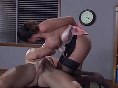 Milf Ariella Ferrera prefers being on top of a big cock